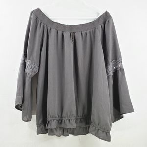 Maurices Off Shoulder Bell Sleeve Blouse
